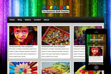 zMyColour Free Html5 Website Template