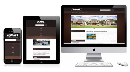Zkimnet free responsive html5 theme zerotheme for Free html templates responsive