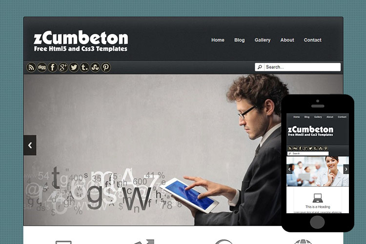 zCumbeton Free Html5 Website Template