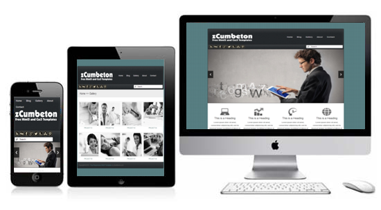 Zcumbeton free responsive html5 theme zerotheme for What is a responsive template