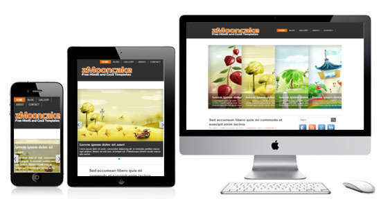 Zmooncake free responsive html5 theme zerotheme for Free html templates responsive