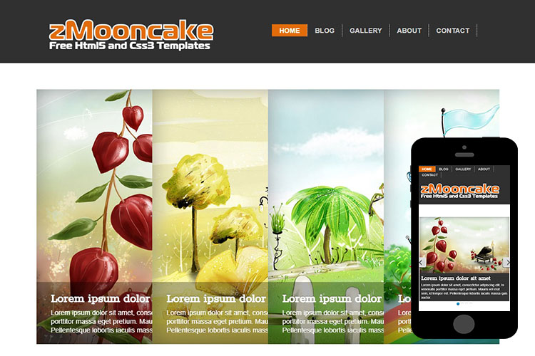 zMooncake Free Html5 Website Template