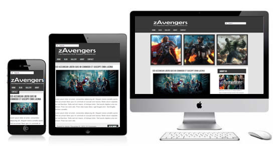 zAvengers Free Html5 Responsive Template