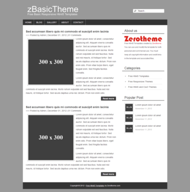 zbasic001 free basic html5 responsive template responsive html5 themes zerotheme. Black Bedroom Furniture Sets. Home Design Ideas