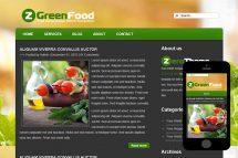zGreenFood Free Html5 Website Template
