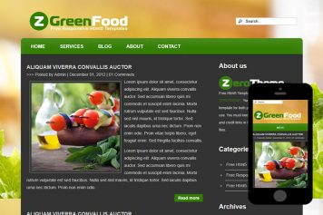 zGreenFood Free Html5 Website Template