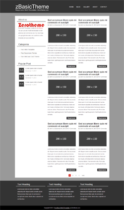 Free basic responsive html5 themes zerotheme for Convert html template to wordpress theme online