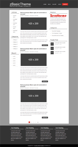 zBasicB004 Free Html5 Responsive Template