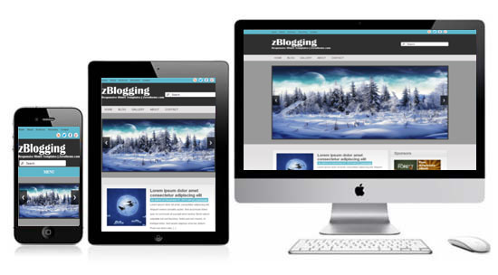 Zblogging free responsive html5 theme zerotheme for What is a responsive template