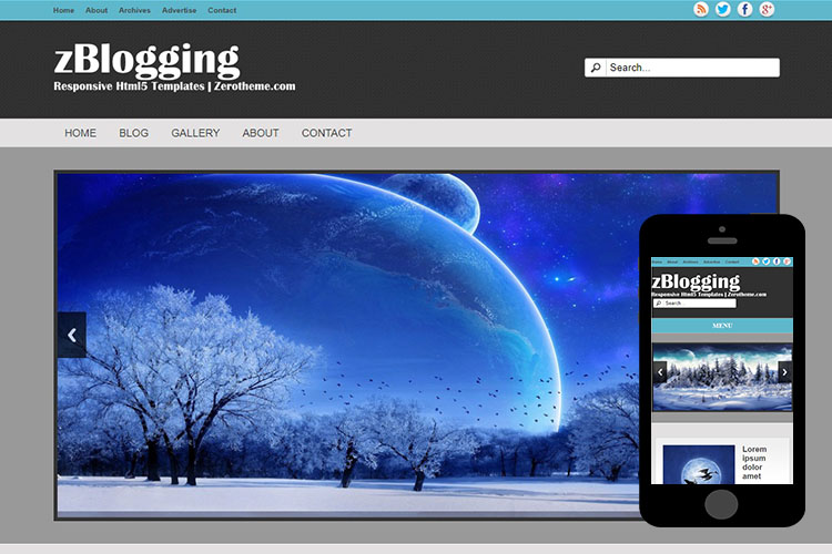 zBlogging Free Html5 Website Template
