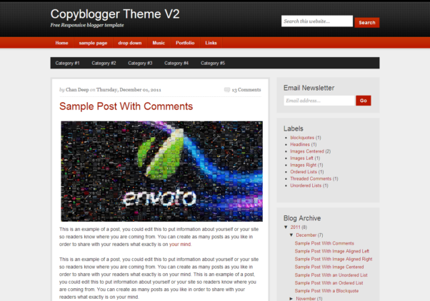 Copyblogger Theme V2 [Free Html5 and Css3 Templates]