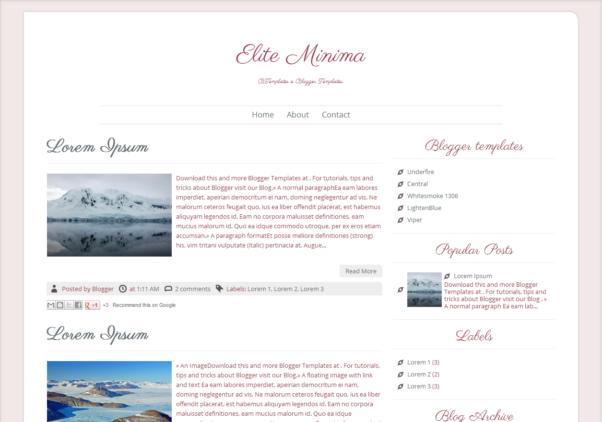Elite Minima [Free Blogger Responsive Templates]