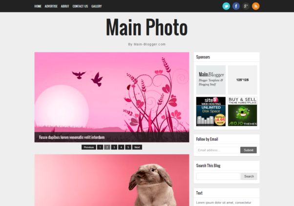 Main Photo [Free Blogger Responsive Template]