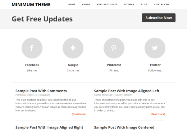Minimum Theme [Free Blogger Responsive Template]