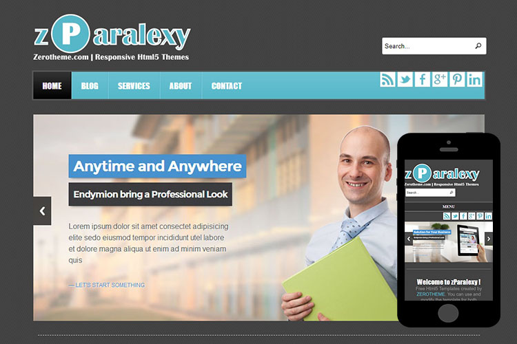 zParalexy Free Html5 Website Template