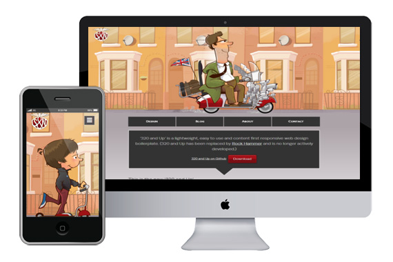 320 and Up Responsive wordpress theme