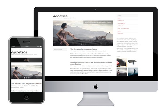 Ascetica responsive wordpress theme