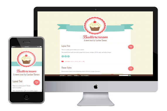 Buttercream responsvie wordpress theme