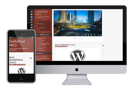 DailyPost responsvie wordpress theme