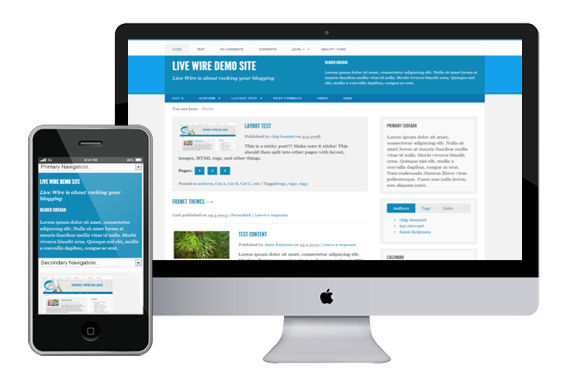 Live Wire responsvie wordpress theme