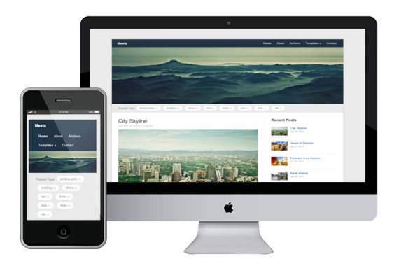 Meeta responsive html5 wordpress theme