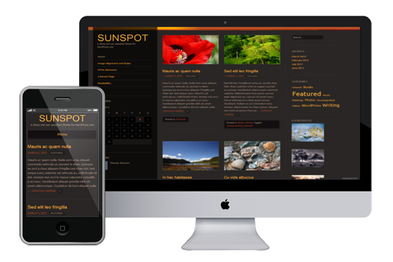Sunspot responsvie wordpress theme