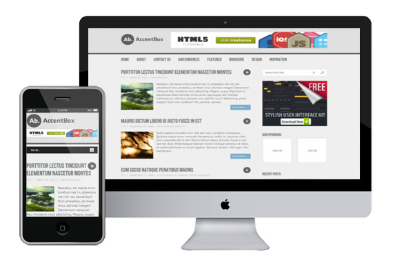 accentbox responsive wordpress theme