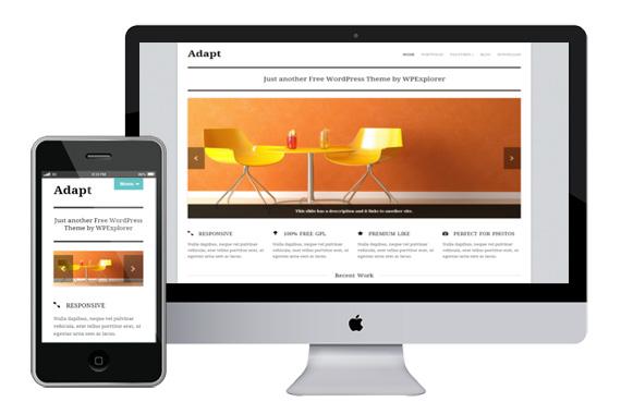 adapt responsvie wordpress theme
