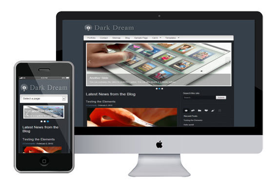 darkdream responsive wordpress theme