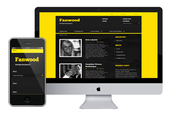 fanwood responsive html5 wordpress theme