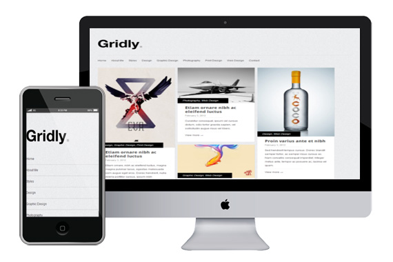 gridly free responsive html5 wordpress theme