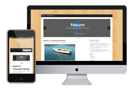 neuro free responsive html5 wordpress theme