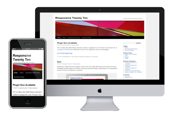 twentyten free responsive html5 wordpress theme