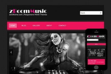 zBoomMusic Free Html5 Website Template
