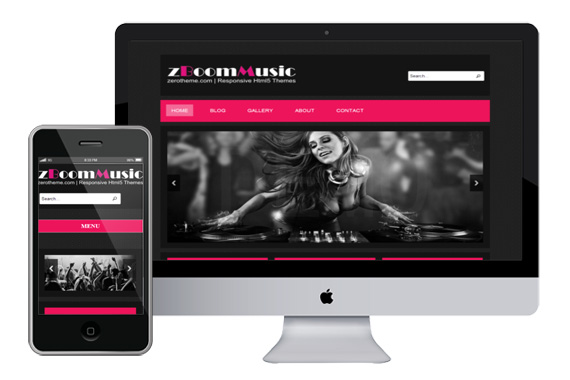 Zboommusic free responsive html5 theme zerotheme for Free website templates html5