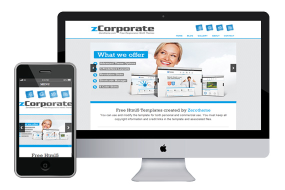zCorporate free responsive html5 templates