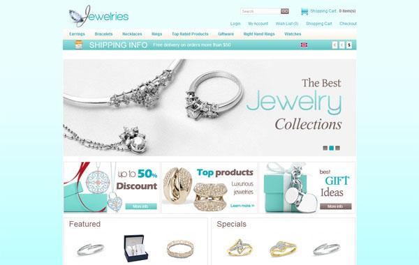 Jewelry Blue Free Opencart Templates - Zerotheme