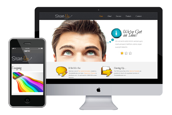 Zstartup free responsive css3 html5 theme zerotheme for Interior design responsive website templates edge free download