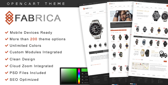 Fabrica - Watch OpenCart Premium Theme