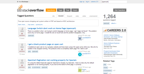 Newest  opencart  Questions   Stack Overflow