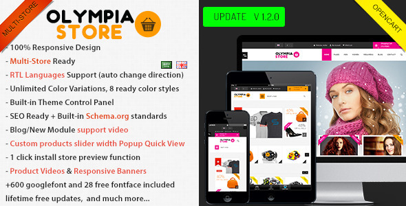 Olympia - Premium Multi-Purpose Opencart Theme