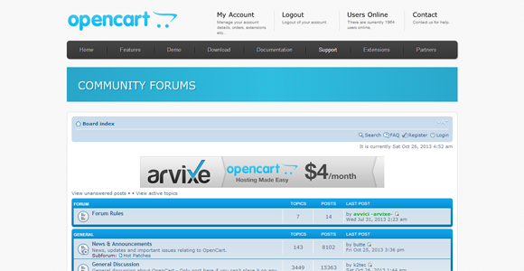 OpenCart Community opencart support tutorials