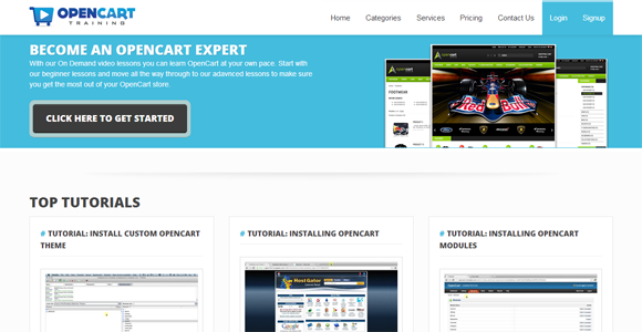 OpenCart Training   On demand OpenCart video tutorials
