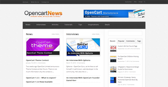 OpencartNews Opencart News Articles and Tutorials