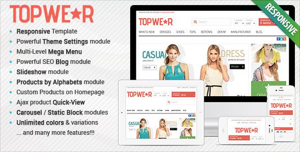 Responsive OpenCart Theme - BossThemes TopWear