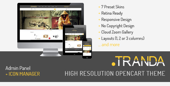 TRANDA - High Resolution OpenCart Theme