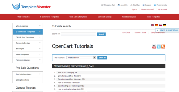 Template Monster Help OpenCart Tutorials tips and tricks