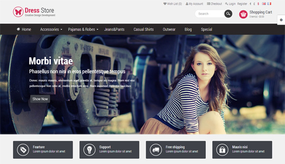best premium opencart templates themes