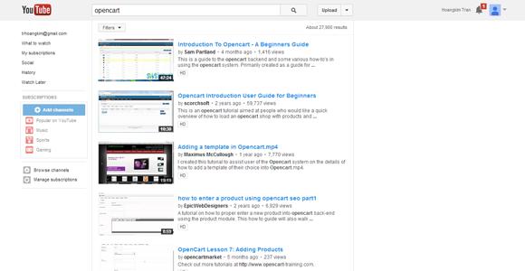 opencart tutorial youtube