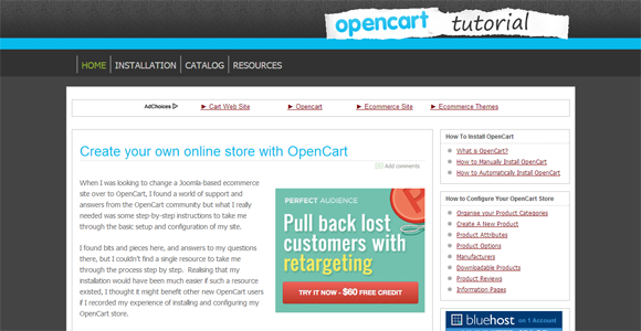 opencart tutorials
